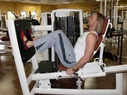 Übung: Beinpresse sitzend
